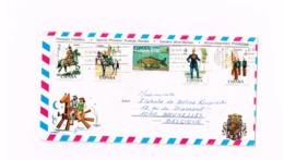 Lettre De Estepona à Bruxelles.Affranchissement Philatélique. - 1931-Hoy: 2ª República - ... Juan Carlos I