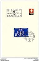"""38-14 - Feuillet Avec Oblit Spéciale """"Olma 1955 St Gallen"""" - Marcophilie"""
