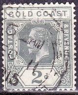 GOLD COAST 1913 KGV 2d Grey SG74 Used - Gold Coast (...-1957)