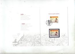 Carte Double Cachet Fdc 2002 Roi - Litauen