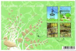 France Oblitération Cachet à Date BF N° 130 ( 4483 Et 4485 + 4479 Et 4480) Salon 2010, Jardin Des Plantes Et Giverny - Blocs & Feuillets