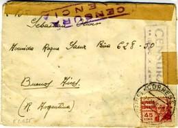 1938  Sobre ESTAFETA DE CAMPAÑA N° 2 / 27 BRIGADA MIXTA   Hasta Buenos Aires    EL635 - 1931-50 Cartas