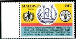 MALDIVES 1992** - FAO - 1 Val. MNH, Come Da Scansione. - Contre La Faim