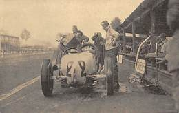 GRAN PREMIO DE ITALIA.-1924- UNA INTERESANTE FOTOGRAFÍA DEL COCHE MERCEDES PILOTADO POR WERNER. - Postales