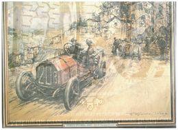 TARGA FLORIO 1907 BY F.GORDON CROSBY STAMPA ESTRATTA DA PERIODICO - Books, Magazines, Comics