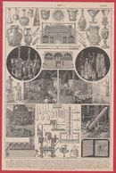 Verre. Verrerie, Illustration Maurice Dessertenne. Larousse 1920. - Vieux Papiers