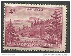 Norfolk Island - 1947 Ball Bay 4d  MH *  SG 7 Sc 7 - Norfolk Island