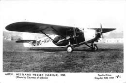 WESTLAND WESSEX (SABENA). 1930 - 1919-1938: Entre Guerras