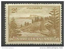 Norfolk Island - 1947 Ball Bay 2s Yellow-bistre MH *  SG 12 Sc 12 - Norfolk Island