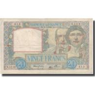 France, 20 Francs, Science Et Travail, 1940, 1940-10-26, TB+, Fayette:12.7 - 1871-1952 Antichi Franchi Circolanti Nel XX Secolo