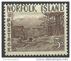 Norfolk Island - 1953 Bloody Bridge 5s MNH **   SG 18  Sc 18 - Norfolk Island