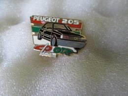 PIN'S   PEUGEOT   205  COLOR LINE  NOIR - Peugeot
