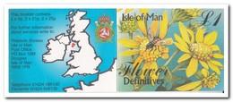 Man 1998, Postfris MNH, Flowers ( Booklet, Carnet ) - Man (Eiland)