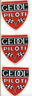 3 Adesivi Stikers Etiquetas VINTAGE GEDOL PILOTI DRIVER RACE 10X10 TUNING - Stickers