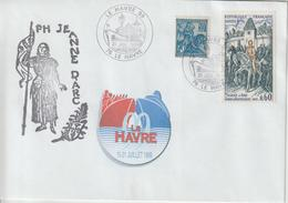 France PH Jeanne D'Arc Le Havre 1999 - Postmark Collection (Covers)