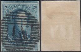 BELGIQUE COB 7 TB MARGE OBLITERE AMBULANT  N.I NORD 1 (DD) DC-3450 - 1851-1857 Medaillons (6/8)