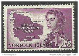 Norfolk Island - 1960 Local Government 2/8d MNH **   SG 40  Sc 42 - Norfolk Island