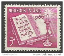 Norfolk Island - 1960 Christmas 5d MNH **   SG 41  Sc 43 - Norfolk Island