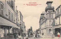 75020-PARIS- TOUT PARIS- RUE DE BELLEVILLE- AU BAS ST-FARGEAU - Arrondissement: 20