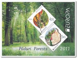 Moldavië 2011, Postfris MNH, Europe, Cept, Trees ( Booklet, Carnet ) - Moldavië