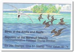 Marshalleilanden 1991, Postfris MNH, Birds ( Booklet, Carnet ) - Marshalleilanden