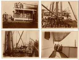 10 Photos 12 X 9 Cm - 1929 Steamer Stoomschip S.S. Anversville - A Bord De L'Anversville - Cie Maritime Du Congo 3 Scans - Boats