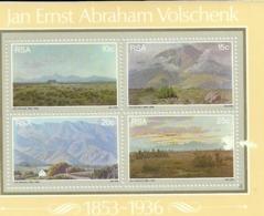 South Africa RSA 1978 Painter Jan Ernst Abraham Volschenk - Landscape Souvenir Sheet MNH Scott 505-508 - South Africa