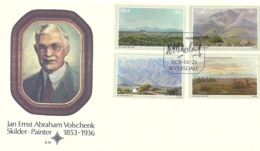 South Africa RSA 1978 Painter Jan Ernst Abraham Volschenk - Landscape FDC Scott 505-508 - South Africa