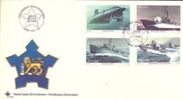 South Africa RSA 1982 Navy - 25th Anniv Return Of Simonstown Naval Base  FDC Scott 560-563 - South Africa