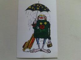 "Kardorama  Postcard -  "" Love Not War  ""  Design K 7 - Humour"