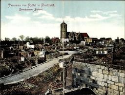 Klapp Cp Rethel Ardennes, Panorama Vom Zerschossenen Stadtteil - France