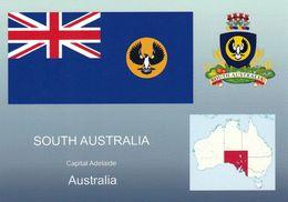 1 AK South Australia * Die Karte Zeigt Die Flagge, Das Wappen Und Die Position Von South Australia In Australien * - Australien