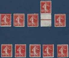 France Semeuse Lot De 10 Faux De Turin N°138**/*.... - 1906-38 Sower - Cameo