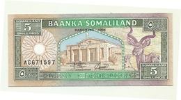 Somaliland - 5 Shillings 1994 - Altri – Africa