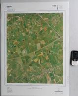 GROTE-LUCHT-FOTO ZEVEKOTE SINT-PIETERS-KAPELLE GISTEL LEFFINGE MIDDELKERKE 48x67cm ORTHOFOTOPLAN PHOTO AERIENNE R610 - Gistel