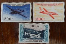 &LEZ& FRANCE YVERT PA 31,32,33, MICHEL 988,989,990 MH*. AIRPLANE, AVION. - 1927-1959 Mint/hinged