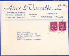 Commercial Cover + Letter - Aires & Vassalo, Armazém De Azeites / Torres Novas To Fundão - 1910-... República