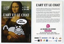 CP Pub L'Art Et Le Chat Philippe Geluck La Joconde Léonard De Vinci - Le Musée En Herbe, 2016 - Fumetti