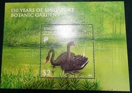 Timbre  - Singapore 2009 - 2 Dollar - Botanic Garden (150 Years) Cygne Noir - Singapore (1959-...)