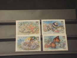 TUVALU - 1986 CORALLI 4 VALORI - NUOVI(++) - Tuvalu