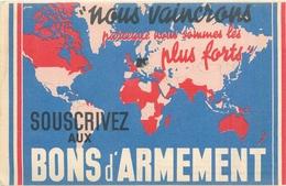 """MILITARIA  Guerre 1914.18 Soucrivez Aux Bons D'armement  """" Nous Vaincrons """"  2 Scans - Guerre 1914-18"""