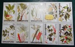Timbre X 10 - Singapore  Plantes - - Singapore (1959-...)