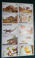 Timbre X 10 - Singapore  Faune - Animaux - - Singapore (1959-...)