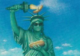 Statue Of Liberty With A Hot Dod , 1950-70s - Statue De La Liberté
