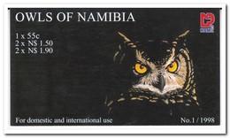 Namibië 1998, Postfris MNH, Birds, Owls ( Booklet, Carnet ) - Namibië (1990- ...)