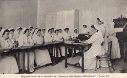 """3166 Cpa Paris - Hôpital Ecole De La Société De """"secours Aux Blessés Militaires """", Cours De La Directrice De L' Hôpital - Santé, Hôpitaux"""