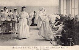 """3169 Cpa Paris - Hôpital Ecole De La Société De """"secours Aux Blessés Militaires """", Salle De Pansements - Santé, Hôpitaux"""