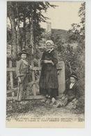 BRETAGNE - COUTUMES MOEURS ET COSTUMES BRETONS - Femme Et Enfants De SAINT HERBOT - CMCB N° 507 - Bretagne