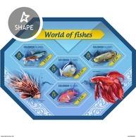 SOLOMON ISLANDS 2014 SHEET FISHES POISSONS PECES PEIXES MARINE LIFE Slm14404a - Isole Salomone (1978-...)