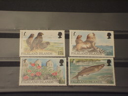 FALKLAND - 1997 FAUNA 4 VALORI - NUOVI(++) - Falkland